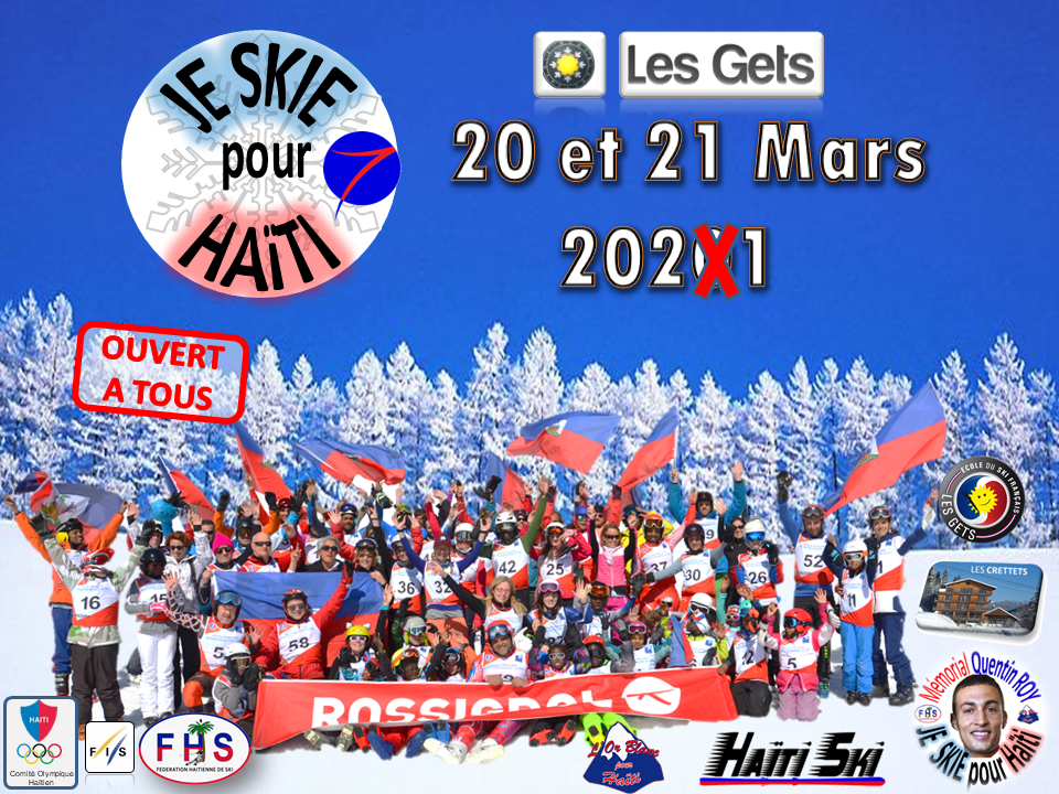 20101001 Save the date JE SKIE POUR HAITI 2021